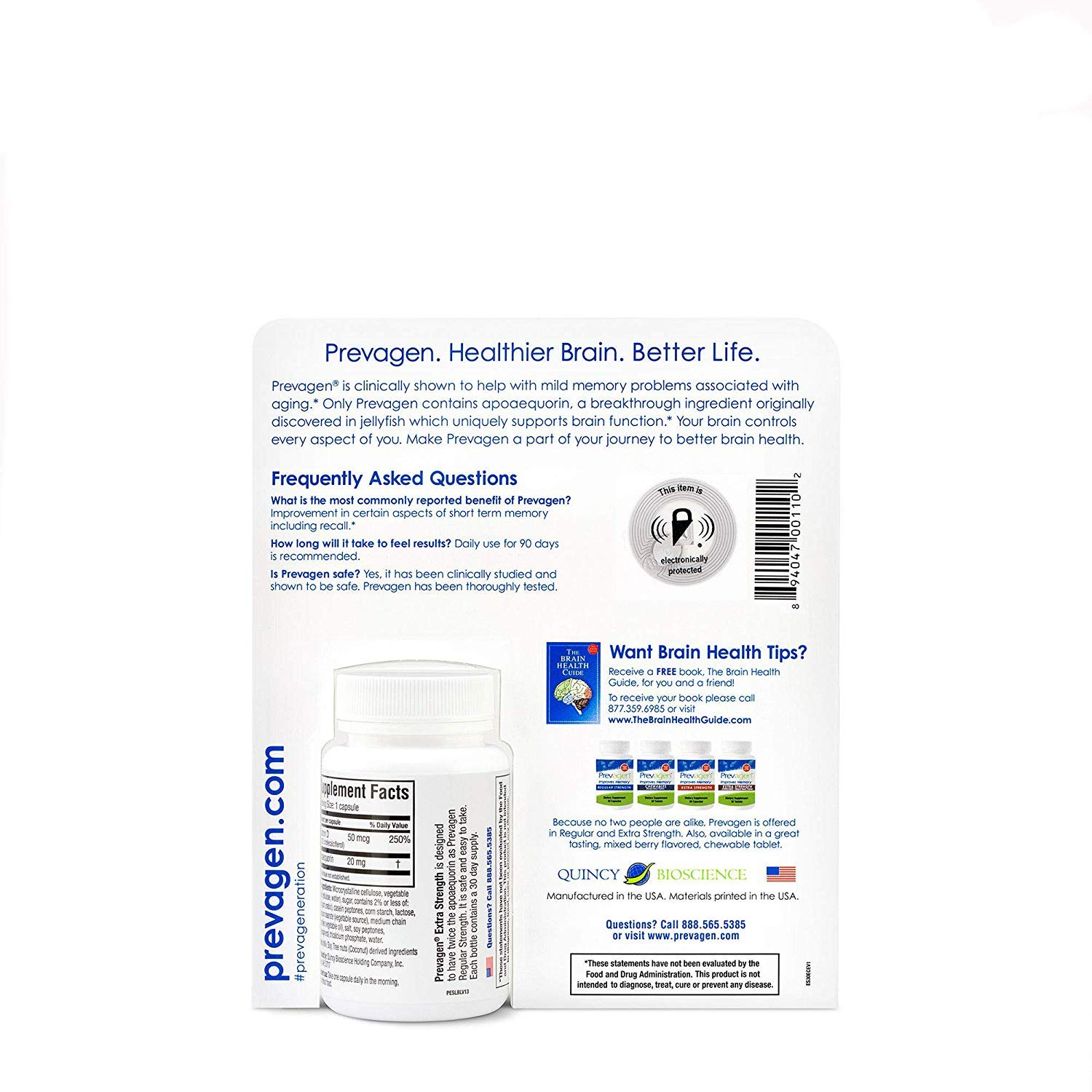 Prevagen Extra Strength - Twin Pack by Prevagen (Quincy-Bioscience) (Image #2)