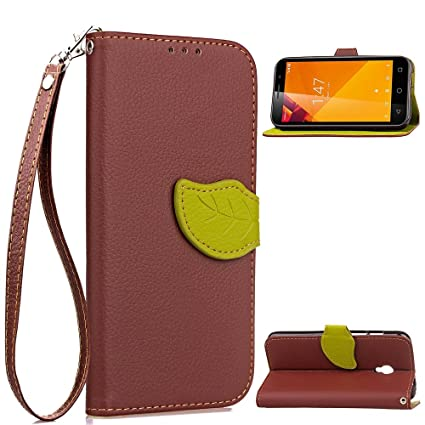 TOTOOSE Vodafone Smart Turbo 7 New Flip Cover New (Brown)