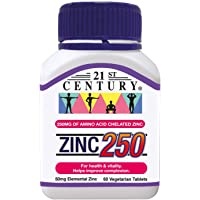 21st Century Zinc 250mg, 60 ct