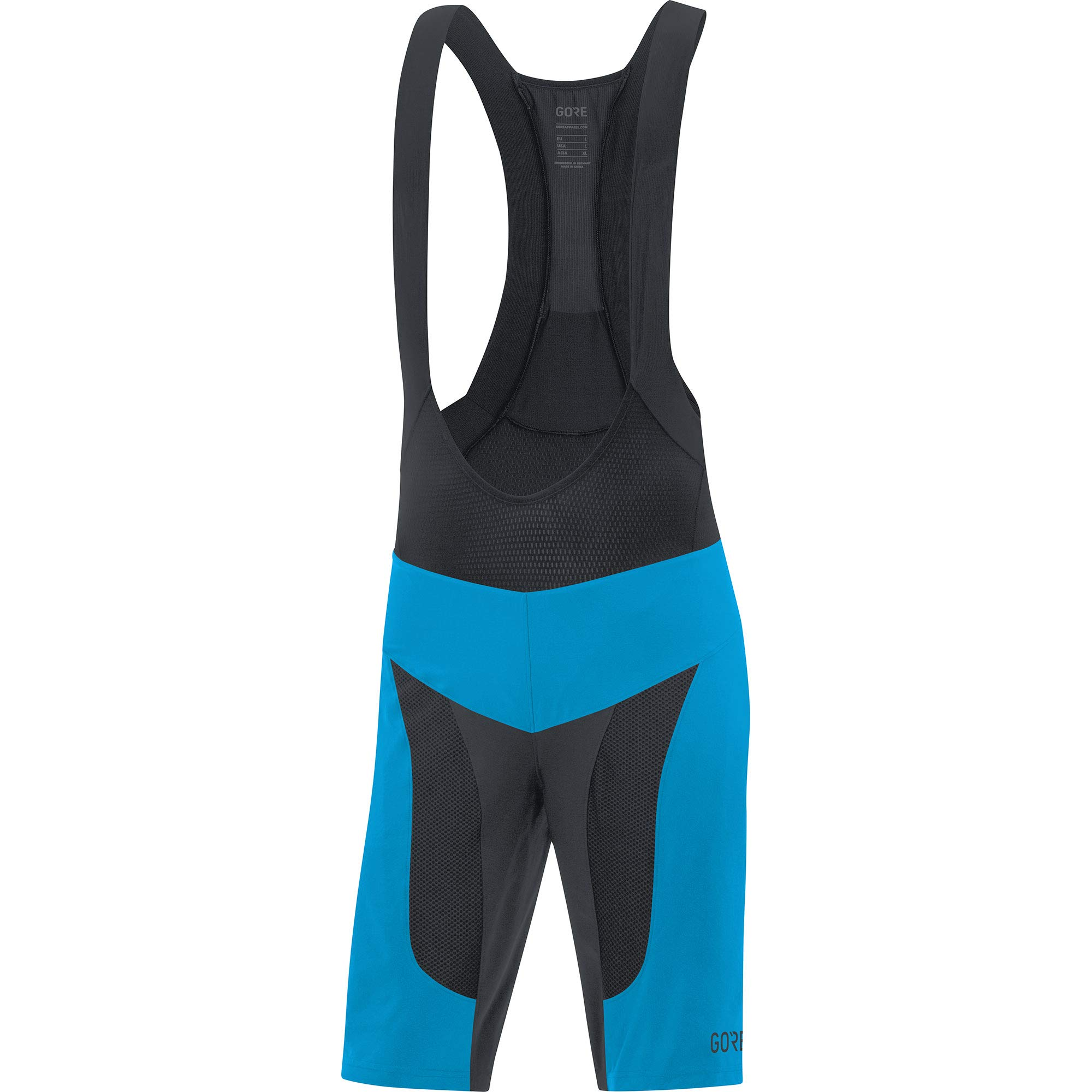 GORE Wear C7 2in1 Men's Mountain Cycling Bib Shorts With Seat Insert, M, Blue/Black