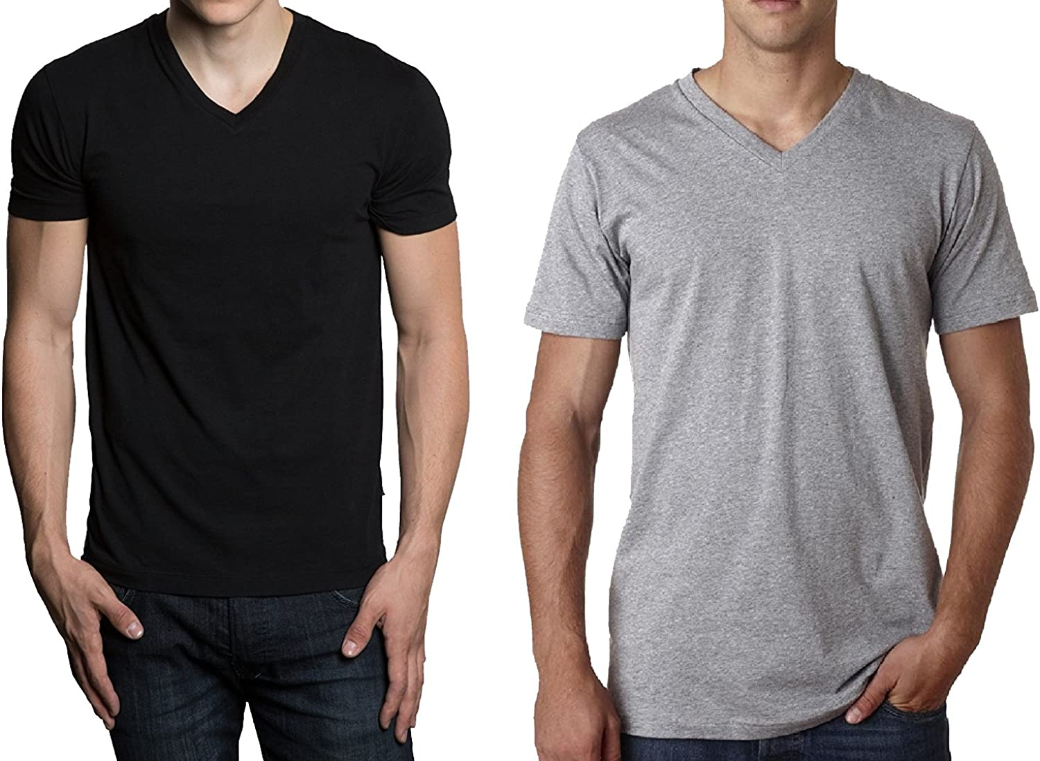 Hanes Men's 3-Pack V-Neck T-Shirt: Clothing