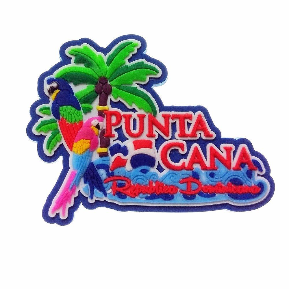 Imán para nevera de goma 3D con diseño de Punta Cana, República ...