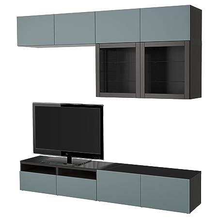 Ikea Besta Tv Storage Combinationglass Doors Black Brownvalviken
