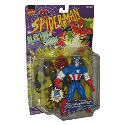 Spider-Man Electro Spark Captain America Figure: Toys & Games