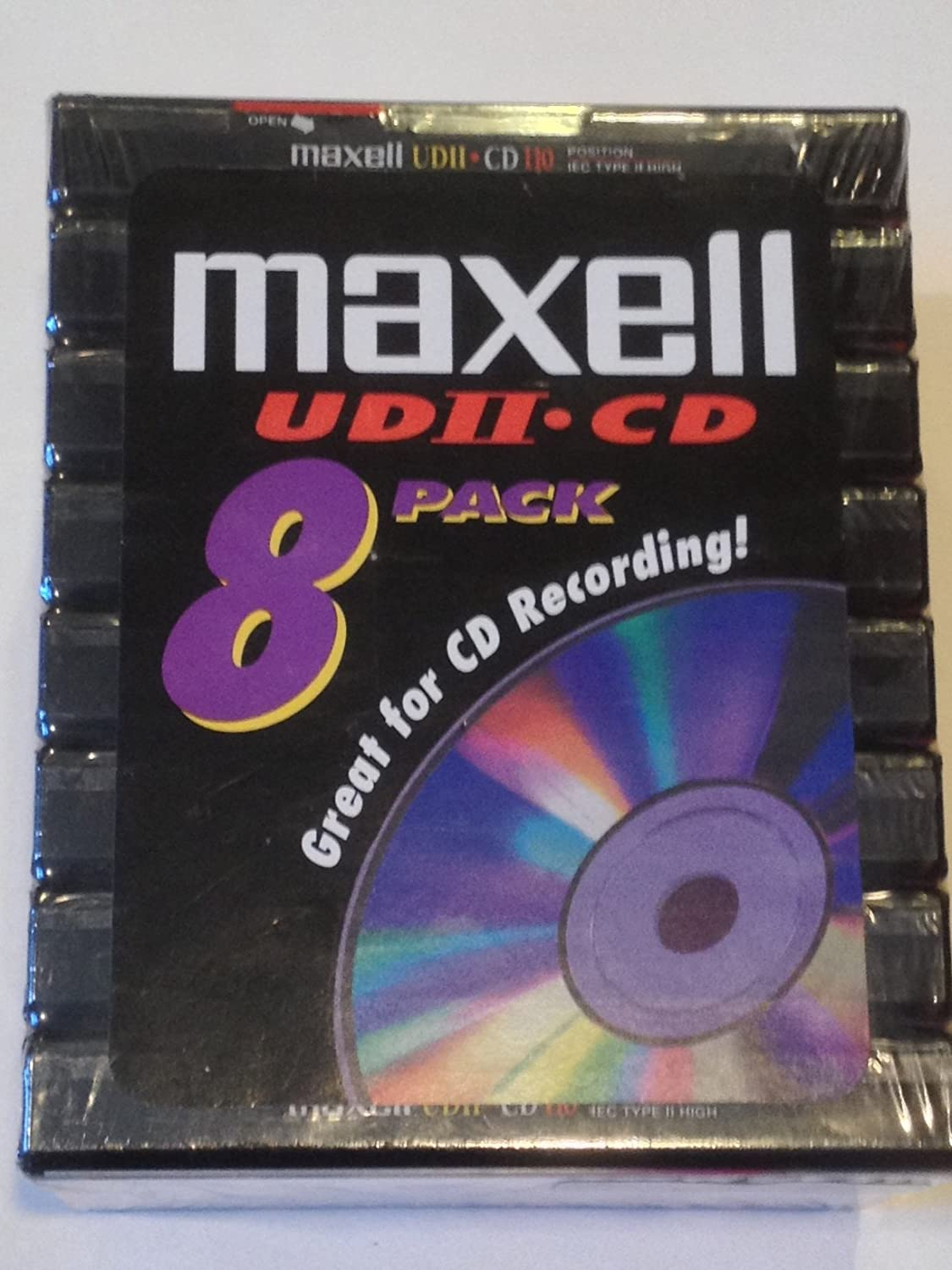 Maxell UDII-CD 110 8 Pack Audio Cassettes High Bias