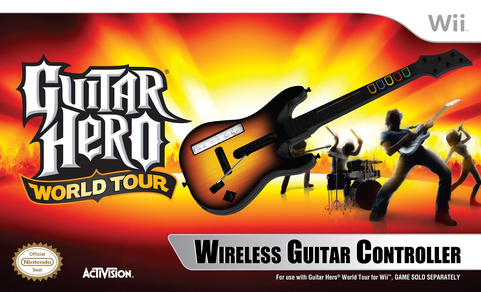 Wii Guitar Hero World Tour - Stand Alone Guitar by Activision
