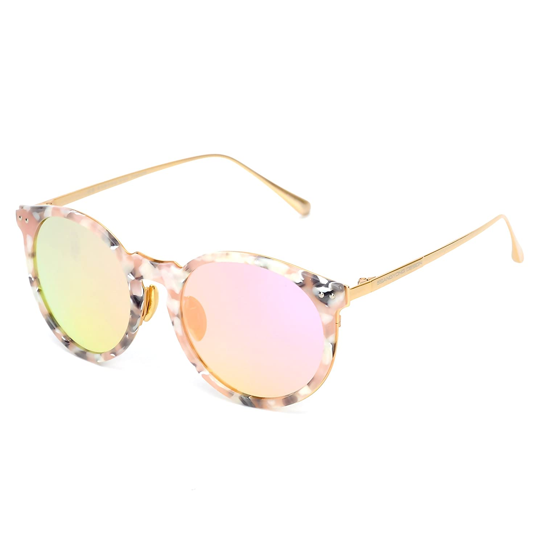 Cat Eye Mirrored UV400 Lens Acetate Frame Classic Retro Sunglasses for Women