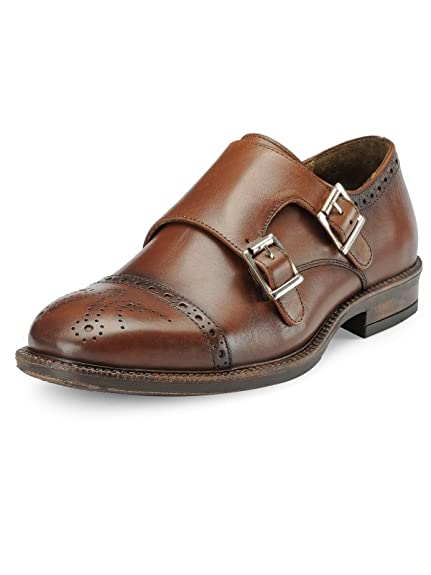 859d67c4d72a7e TEAKWOOD Genuine Real Leather Men s Slip-ons Monk Strap Formal Shoes  Buy  Online at Low Prices in India - Amazon.in