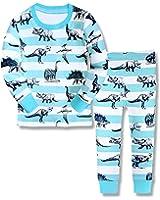 子供服 ボーイズ 長袖パジャマ ルームウェア 恐竜柄 寝間着 上下セット 幼児服 プレゼント キッズ服