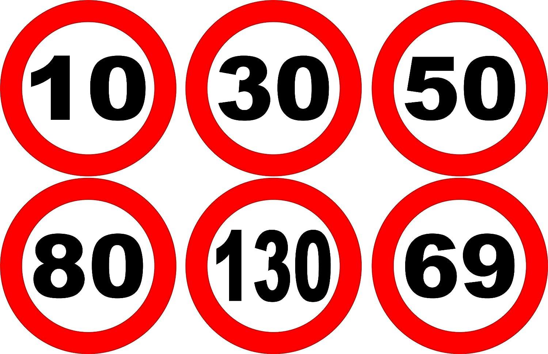 stickers autocollant panneau de vitesse au choix voiture bus camion