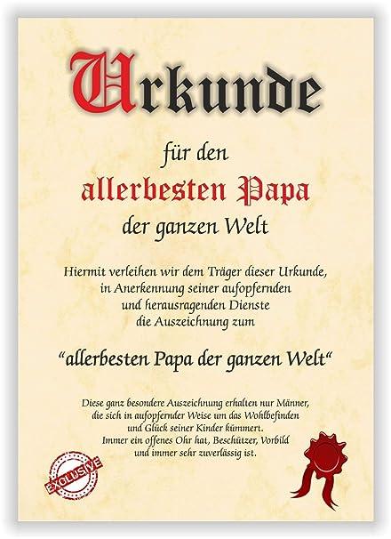 Documento para el mejor papá del mundo, tarjeta de regalo ...
