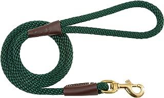"product image for Mendota Pet Snap Leash, 1/2"" x 6', Hunter Green"