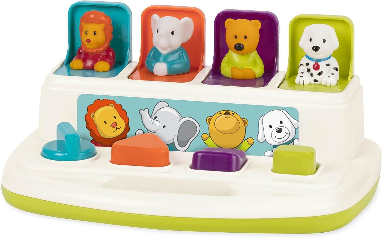 Battat – Pop-nach oben Pals – Color Sorting Animal Push & Pop nach oben Toy for Kids 18 Months +