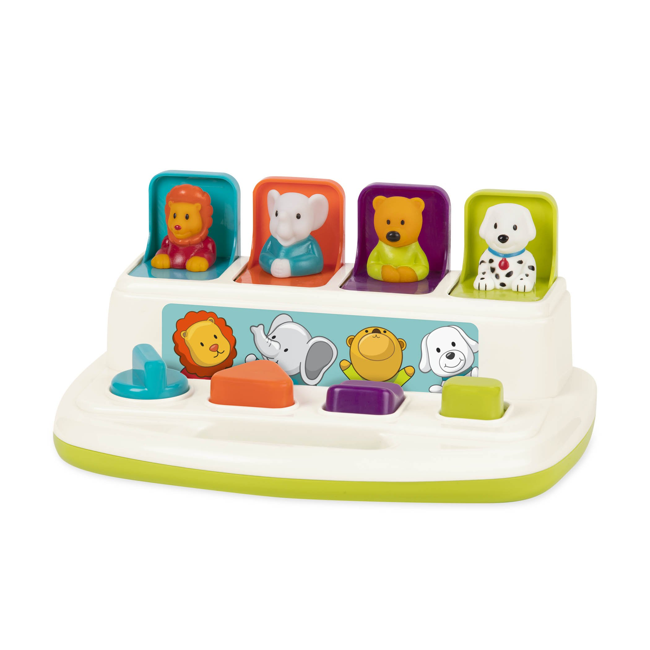 Battat - Pop-Up Pals - Color Sorting Animal Push & Pop Up Toy for Kids 18 Months + by Battat
