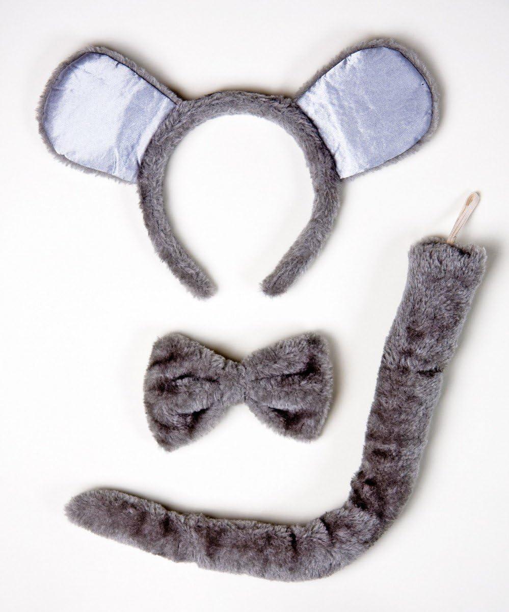 Mausset: diadema con orejas, corbata de moño, cola: Amazon.es ...