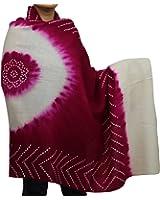 Cadeaux Red-Violet crème des femmes indiennes accessoire châle de laine Tie-Dye 36x80 pouces de mariage main