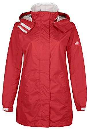 save off top-rated official great deals on fashion Womens Ladies Waterproof Jacket Breathable Hooded Rain Mac Detachable Hood  (Red)