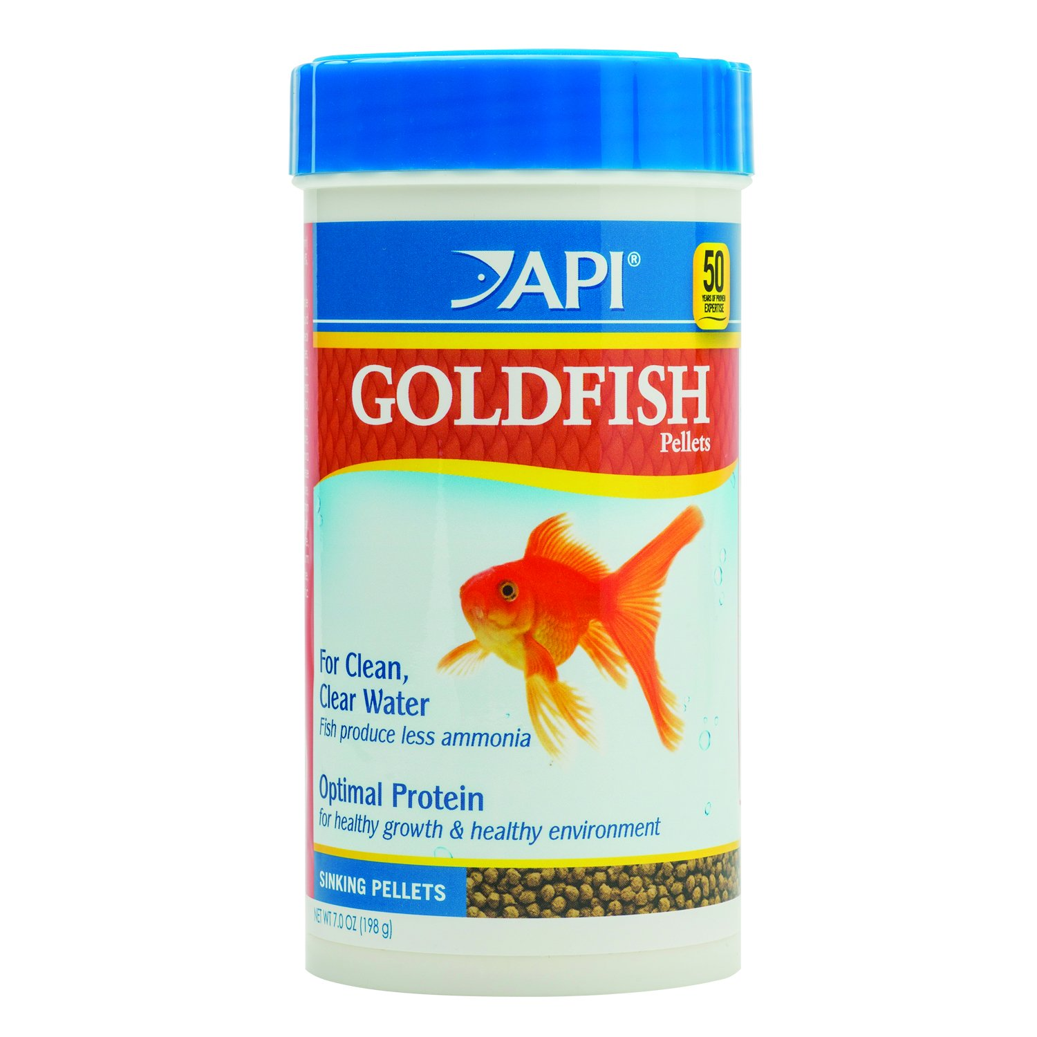 API GOLDFISH PELLETS Fish Food 7-Ounce Container