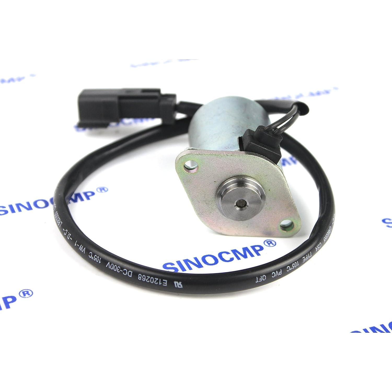 Rotating Solenoid Valve 20Y-60-32120 3 Month Warranty SINOCMP Excavator Solenoids for Komatsu PC60-7 PC120-5 PC130-6 Swing Solenoid Valve
