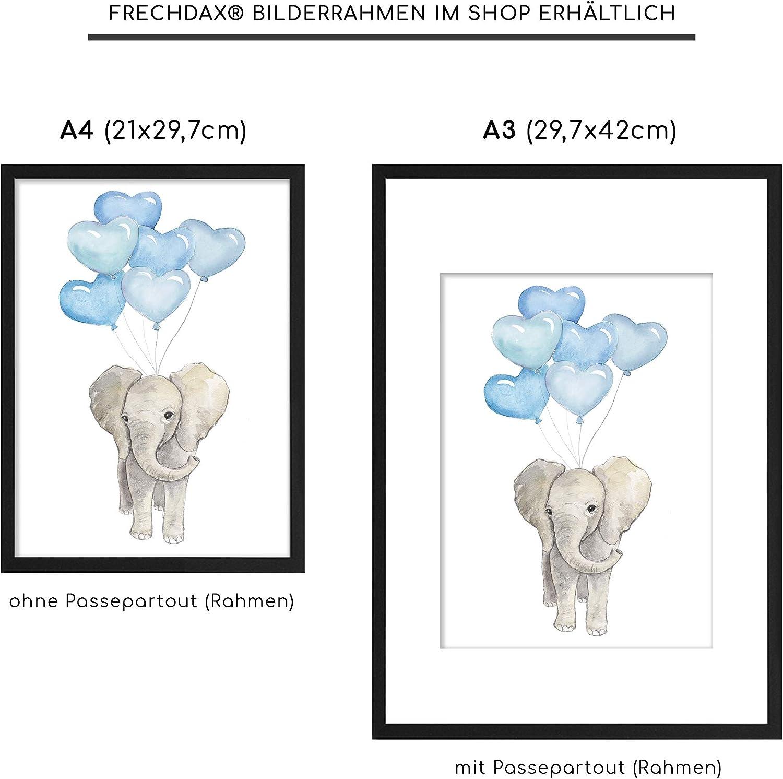 DIN A4 3er Set Blau safari animaux Reh B/är Frechdax/® Lot de 3/affiches pour chambre d/'enfant ballon animaux de la for/êt Fuchs plusieurs coloris disponibles Afrique format A4