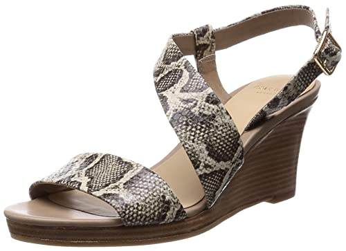 04e23ea9435 Cole Haan Women s Ravenna Wedge Roccia Snake Print Sandal 10.5 B (M ...