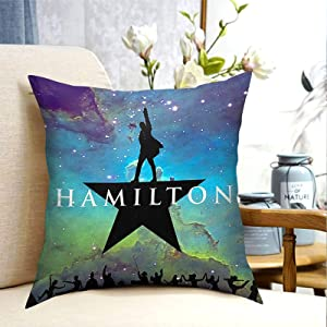 Ham-il-ton Musical Pillow Covers, Home Square Pillow case Decorative Throw Pillowcase Cushion Covers, For Home,Sofa,Couch,Bed or Car, Modern Design -18 x18 inch
