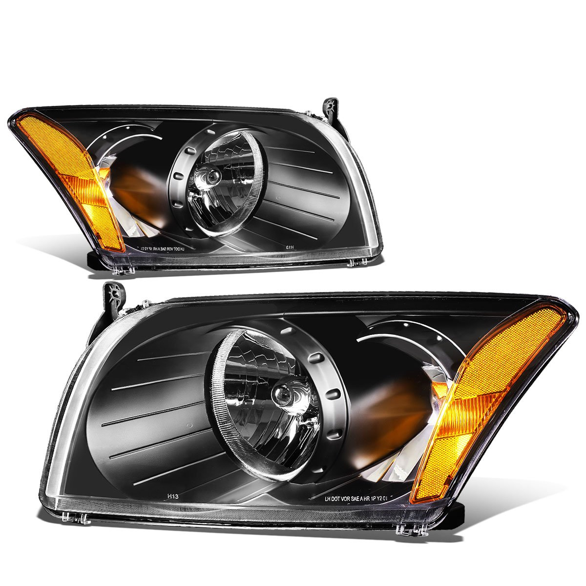 Headlights Front Lamps Pair Set for 07-12 Dodge Caliber Left /& Right