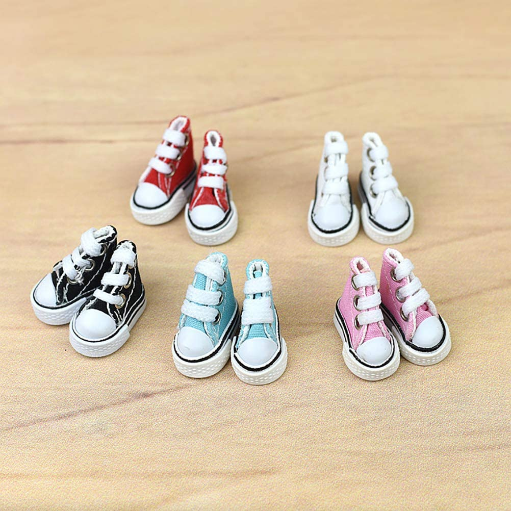 HAOCAI 3.5CM Canvas Shoes Decoration Finger Dance Shoes Supermodel Ragdoll Shoes Sneakers Ornaments