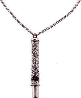 product image for 1928 Jewelry Antiqued Silver-Tone Whistle Pendant Necklace