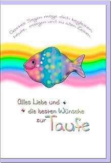Metalum Premium Glückwunschkarte Zur Taufe Mit Hochwertiger Metallverzierung