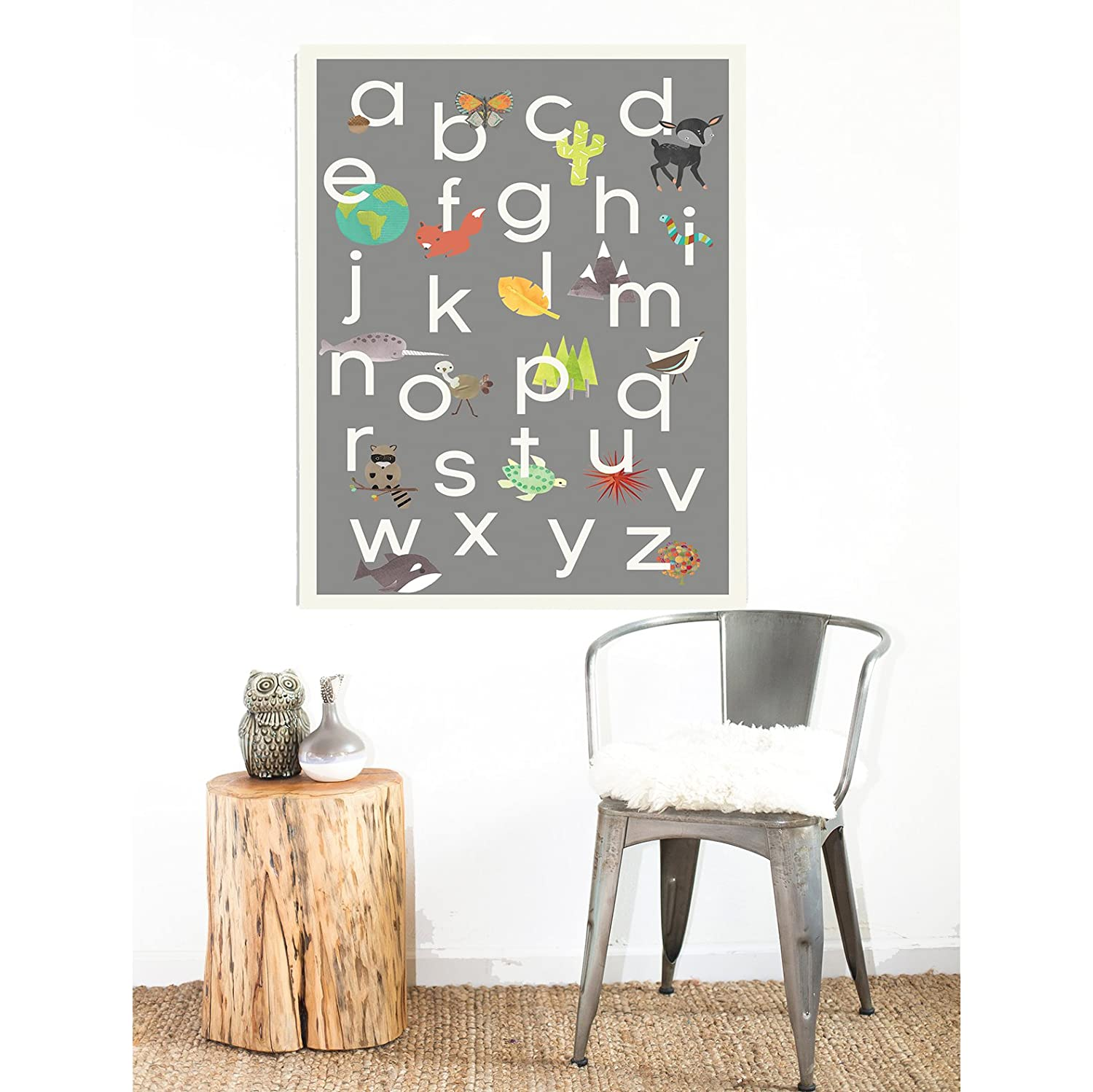 Amazoncom English Alphabet Abc Poster Wall Art Print 18 X 24