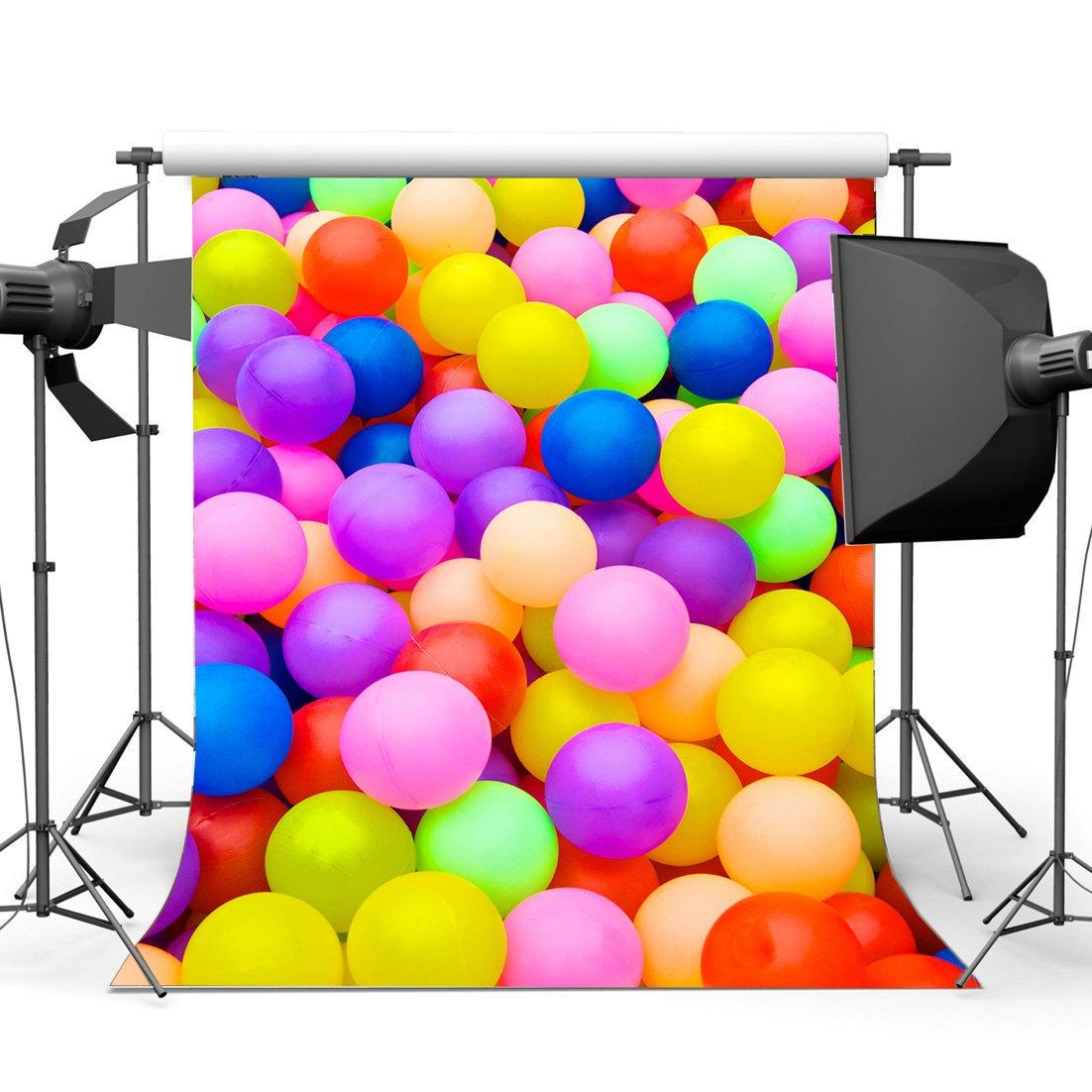 gladbuyビニール3 x 5ft Happy誕生日日Backdropカラフルボール子供S Playground Cartoon写真背景for Sweet赤ちゃんシャワー男の子女の子パーティー装飾フォトスタジオ小道具kx269   B079ZZ7HYY