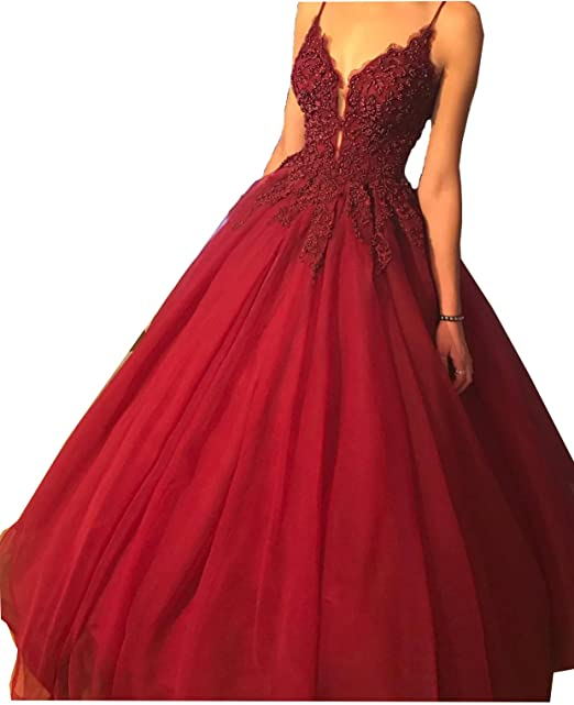 050d3a2cd830 Fanciest Women's Spaghetti Straps Prom Dresses Long 2018 s Evening Formal  Dress: Amazon.ca: Clothing & Accessories