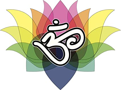 Amazon Rainbow Louts And Om Aum Symbol Peace Serenity Yoga Red