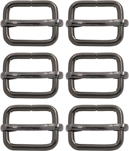 BIKICOCO Metal Slide Adjuster Buckle Tri Glide with Movable Center Bar Non Welded 1.5 x 0.8 Inch Bronze Pack of 20