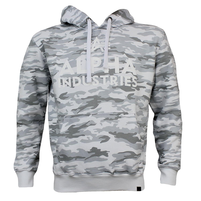 Alpha Industries Sweatshirt FOAM PRINT HOODY Weiß camo
