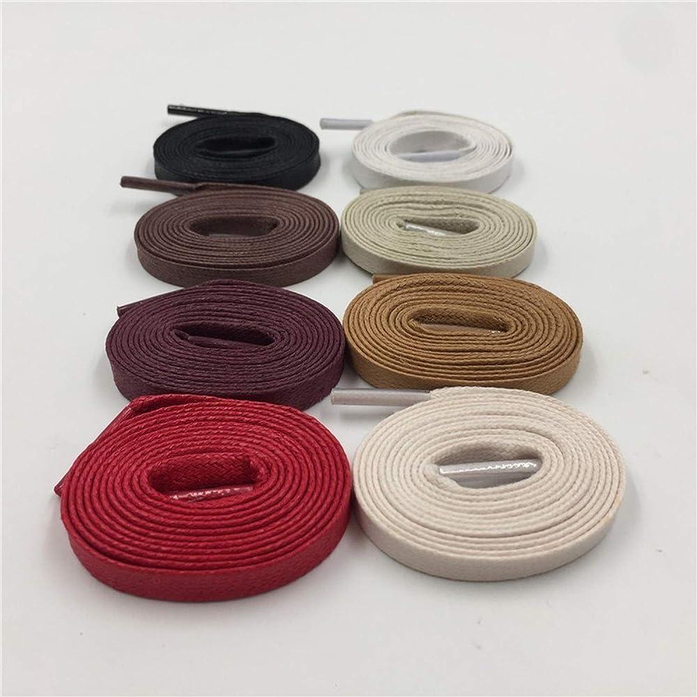 Lovely-orange shoelace Cordones planos de algodón encerado para ...