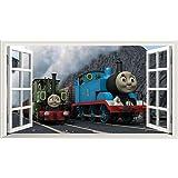 Thomas The Tank Engine V001 Magic Window Wall Sticker Self Adhesive Poster  Wall Art Size 1000mm