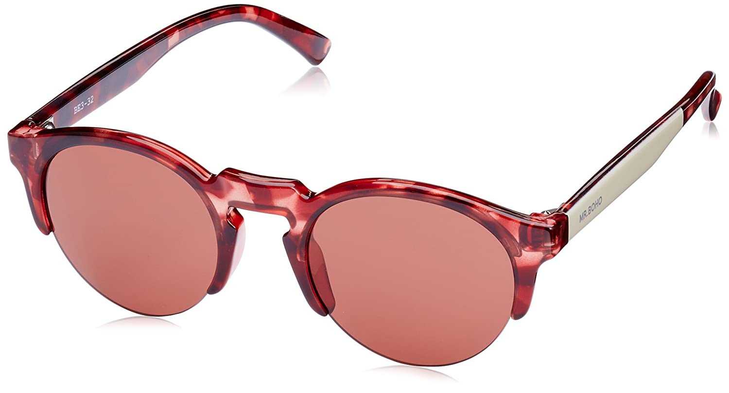 MR, Monochrome red born - Gafas De Sol unisex color rojo, talla única