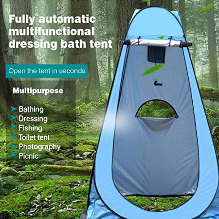 Luermeuk Pop Up Shower Tent Lightweight and Sturdy Changing Room Pop Up Pod Privacy Tent Instant Portable Outdoor Shower Tent Camp Toilet Rain Shelter for Camping and Beach