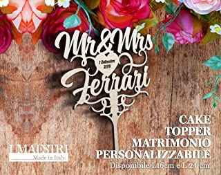 Cake topper Mr & Mrs personalizzabile - I MAESTRI