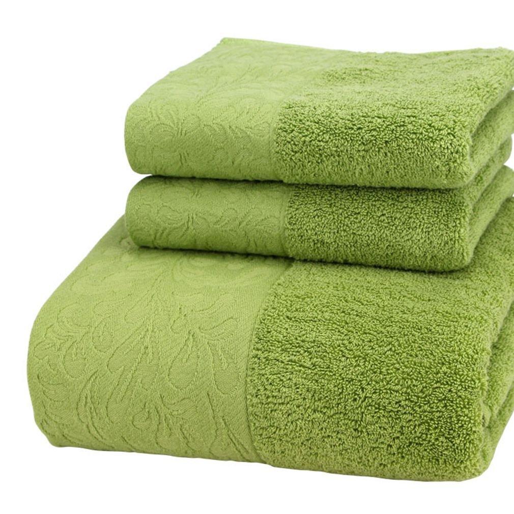 100% Cotton 3 Piece Family Towels Bath Towel Set (Color 7)