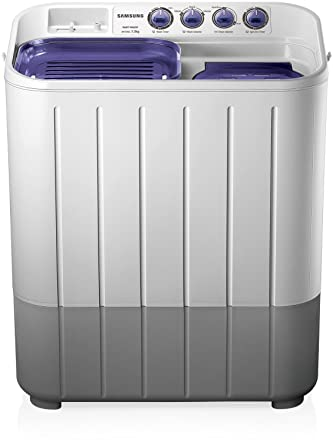 Samsung 7 2 kg Semi-Automatic Top Loading Washing Machine (WT725QPNDMP,  White and Blue, Center Jet Pulsator)