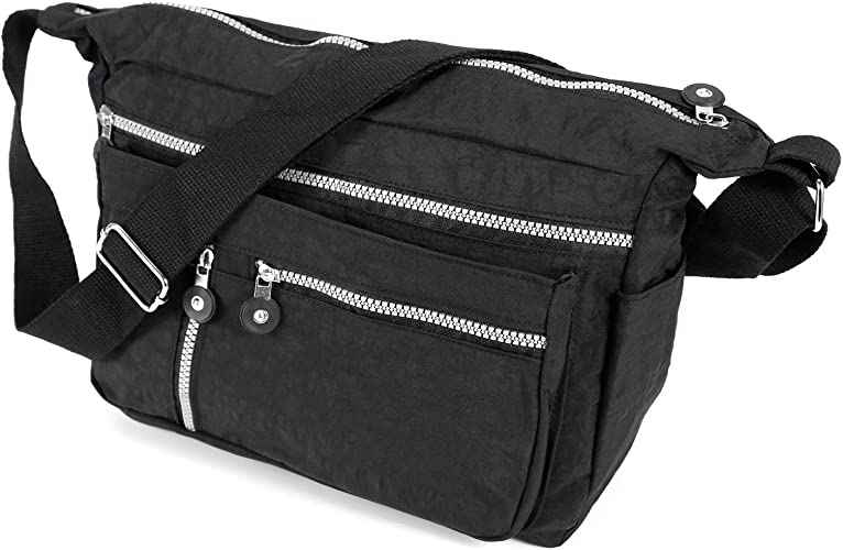 Womens Crossbody Bag Diamante Zip Top Prom Party Messenger Satchel Shoulder Bag
