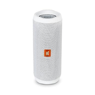 JBL Flip 4 Bluetooth Portable Stereo Speaker - White