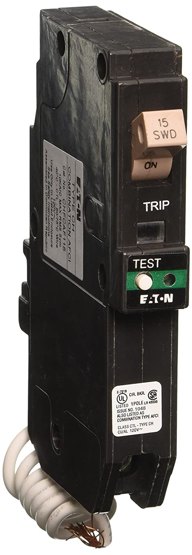 Eaton Corporation CHFCAF115 Single Pole Cutler Hammer Combo Arc Fault Circuit Breaker, 15-Amp