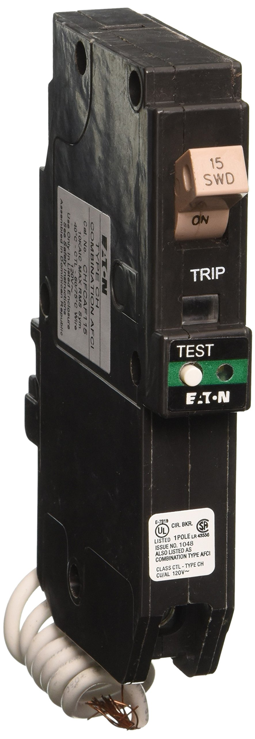 Best Rated In Arc Fault Circuit Breakers Helpful Customer Reviews Afci Fact Sheet The Is An Interrupter Eaton Corporation Chfcaf115 Single Pole Cutler Hammer Combo Breaker 15 Amp