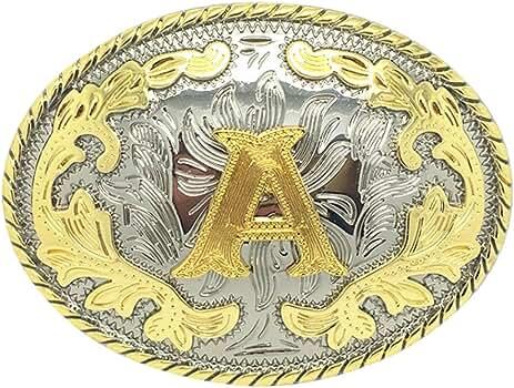 JEANSFRIEND also Original Initial Letter A Cowboy Cowgirl Western Hebilla del cintur/ón Belt Buckle