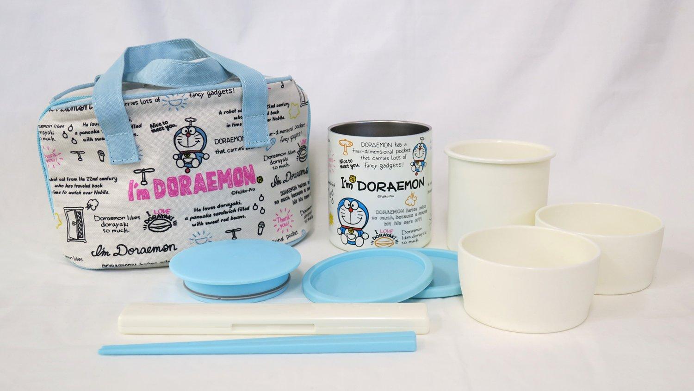 Amazon.com: Osk Doraemon inoxidable Lunch Box Set w/bolsa