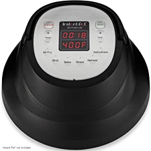 Instant Pot Air Fryer Lid Broil, Reheat & Dehydrate with Roast, Bake, 6-QT